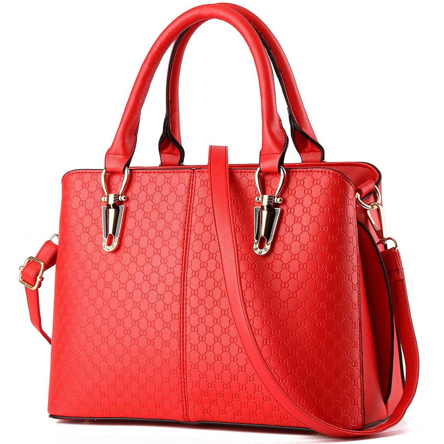 84b7ef0b5ece8 TcIFE Women Top Handle Satchel Handbags Tote Purse, Red: Handbags:  Amazon.com