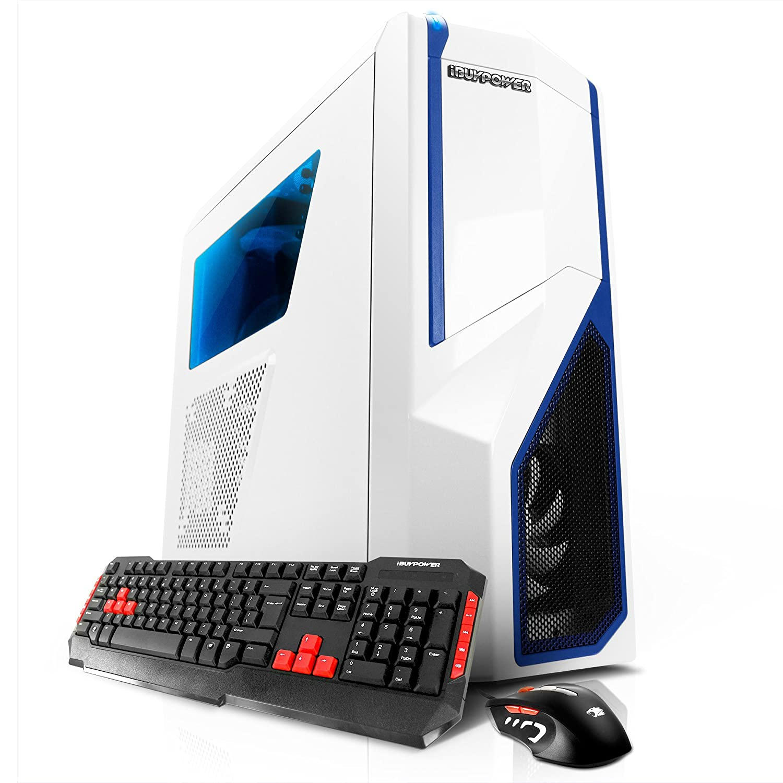 iBUYPOWER AM-410SWK Gaming Desktop - Intel Core i7-6700K, NVIDIA GTX 970 4GB, 16GB DDR4, 1TB HDD, 128GB SSD, 24X DVDRW, 802.11ac Wi-Fi USB Adapter, ...