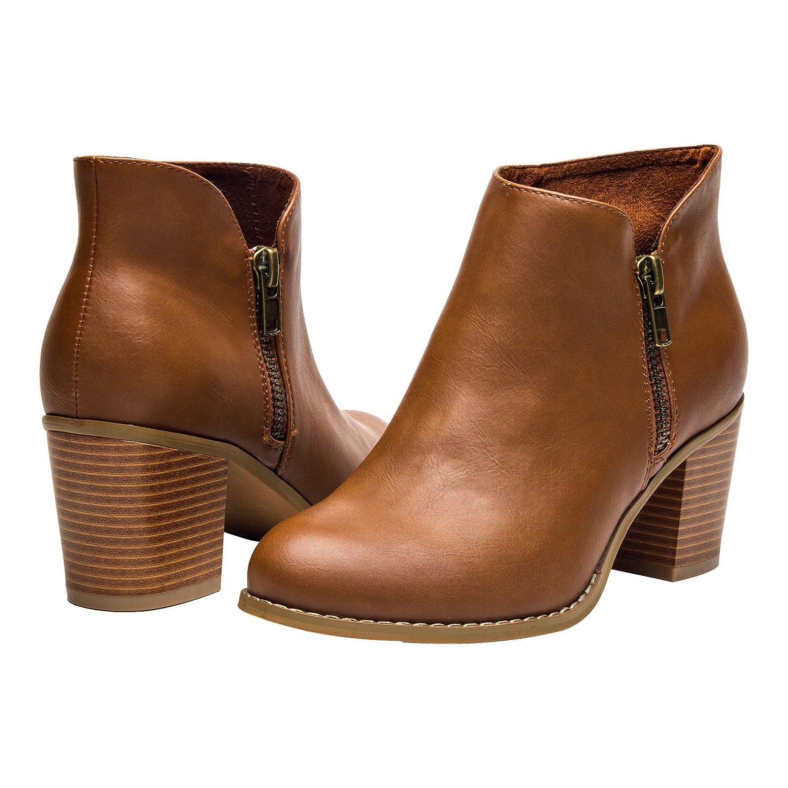Luoika Plus Size Wide Width Ankle BootsWomen - 2
