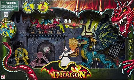 Legend of Dragon Leyenda del Dragón Doom Ataque Castillo Doom Castle Attack: Amazon.es: Juguetes y juegos