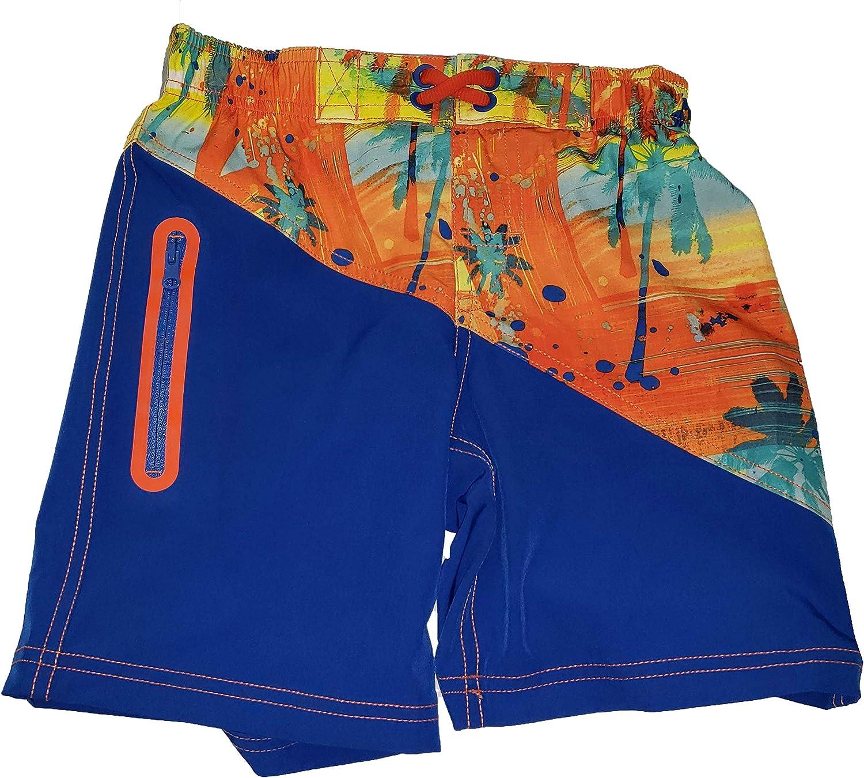Paint Splatter on Ultra Blue Swim Trunk Shorts