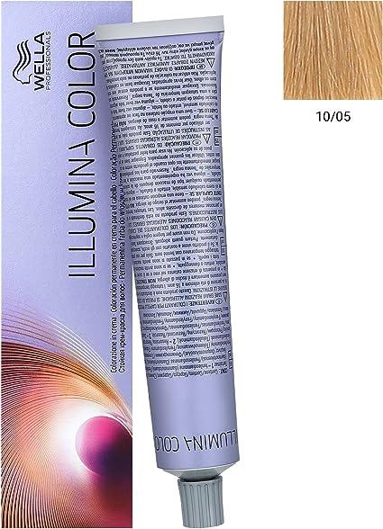 Wella Illumina Color 10/05 Claro de tinte natural de caoba 60 ml