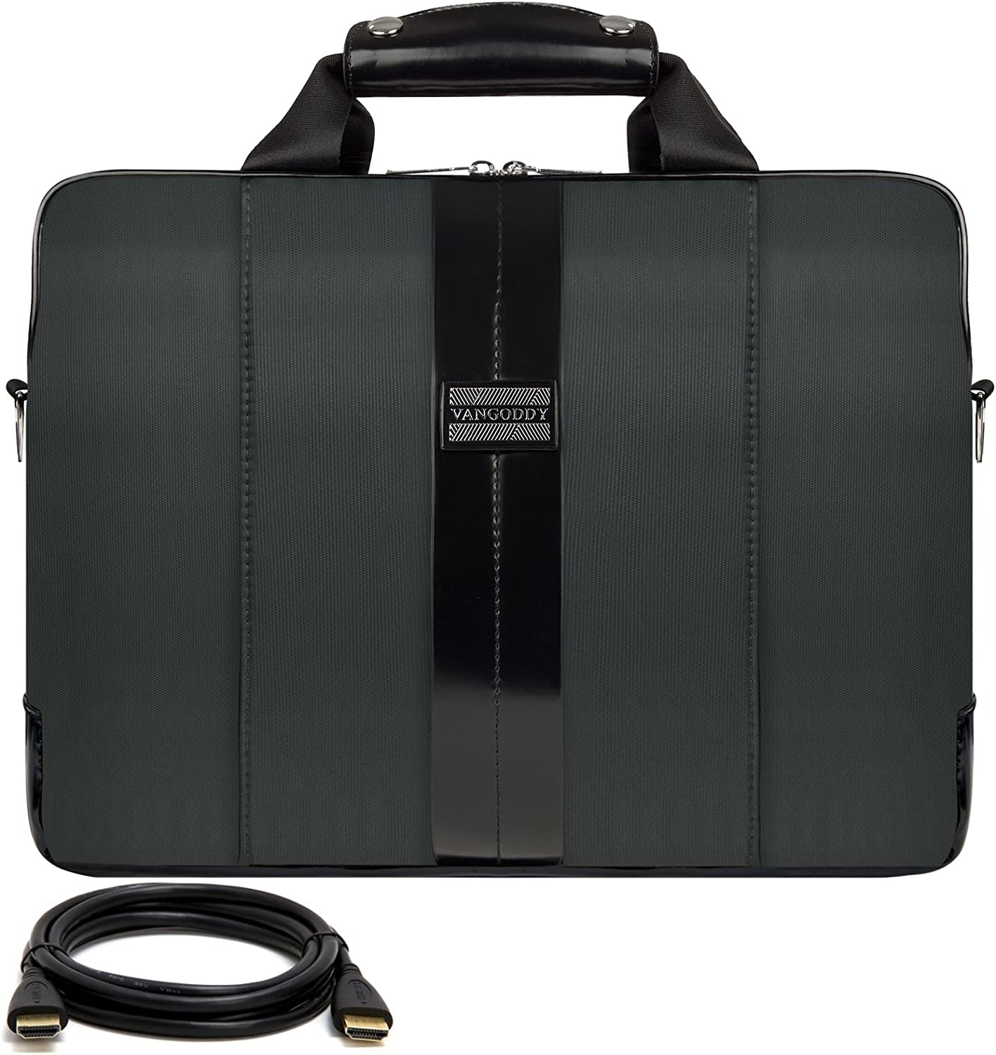 12FT HDMI Cable VanGoddy Modern Gray Messenger Bag for Apple MacBook Pro 15-inch