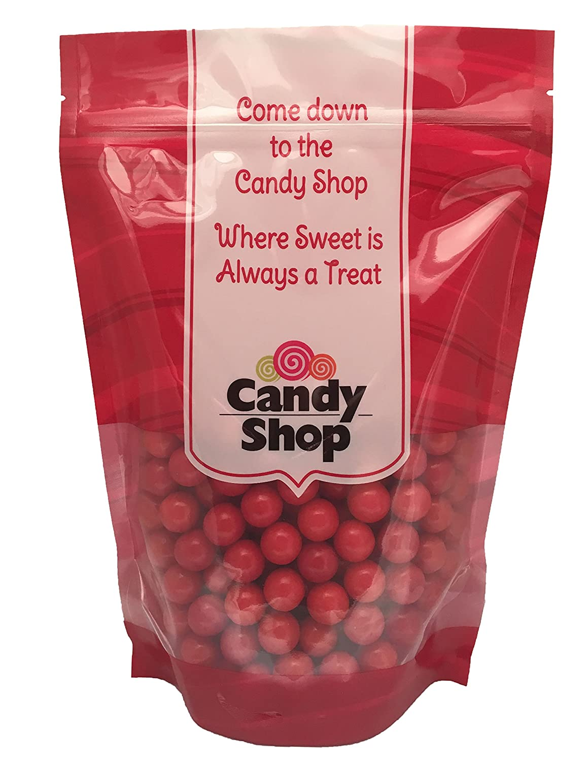 Candy Shop Red 5/8 Inch Gumballs (1 Pound)
