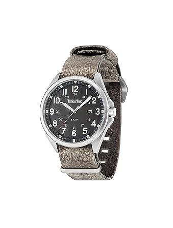 Timberland Reloj Analógico para Hombre de Cuarzo con Correa en Cuero TBL-GS-14829JS-02-AS: Amazon.es: Relojes