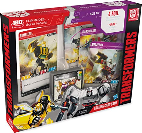 Amazon.com: Transformers TCG: Bumblebee Vs. Megatron 2-Player Starter Set |  1 Ready-to-Play Deck | 44 Cards Incl. Bumblebee: Toys & Games