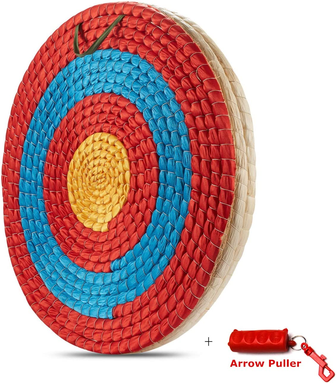 KAINOKAI Traditional Hand-Made Archery Target with Arrow Puller,Arrows Target for Recurve Bow Longbow or Compound Bow