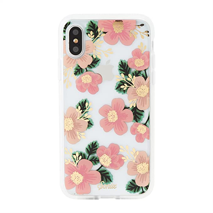 quality design b1ef8 04f27 Amazon.com: iPhone Xs, iPhone X, Sonix Southern Floral (Pink Flowers ...