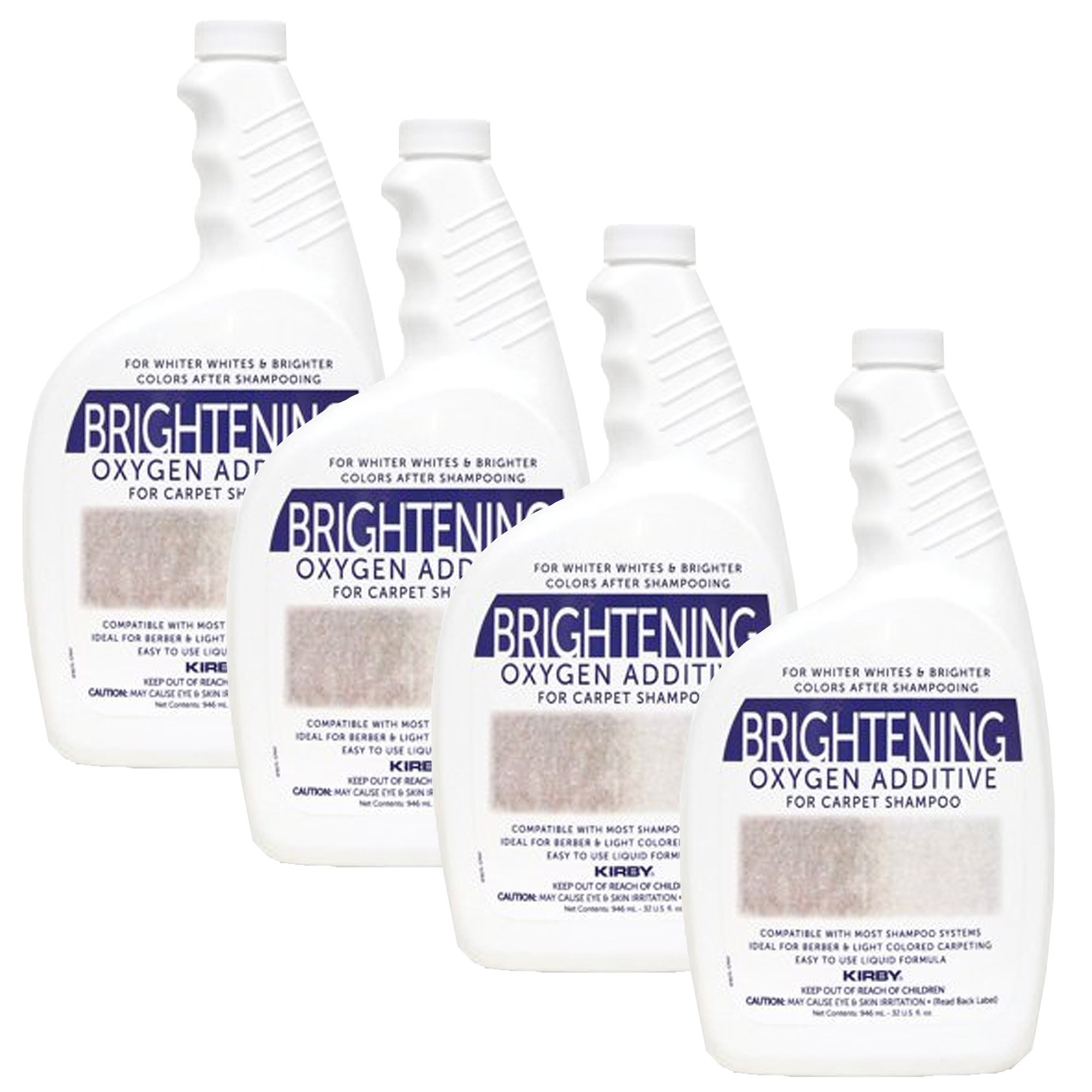 Genuine Kirby 32oz. Brightening Oxygen Additive for carpet shampoo (4 bottles)