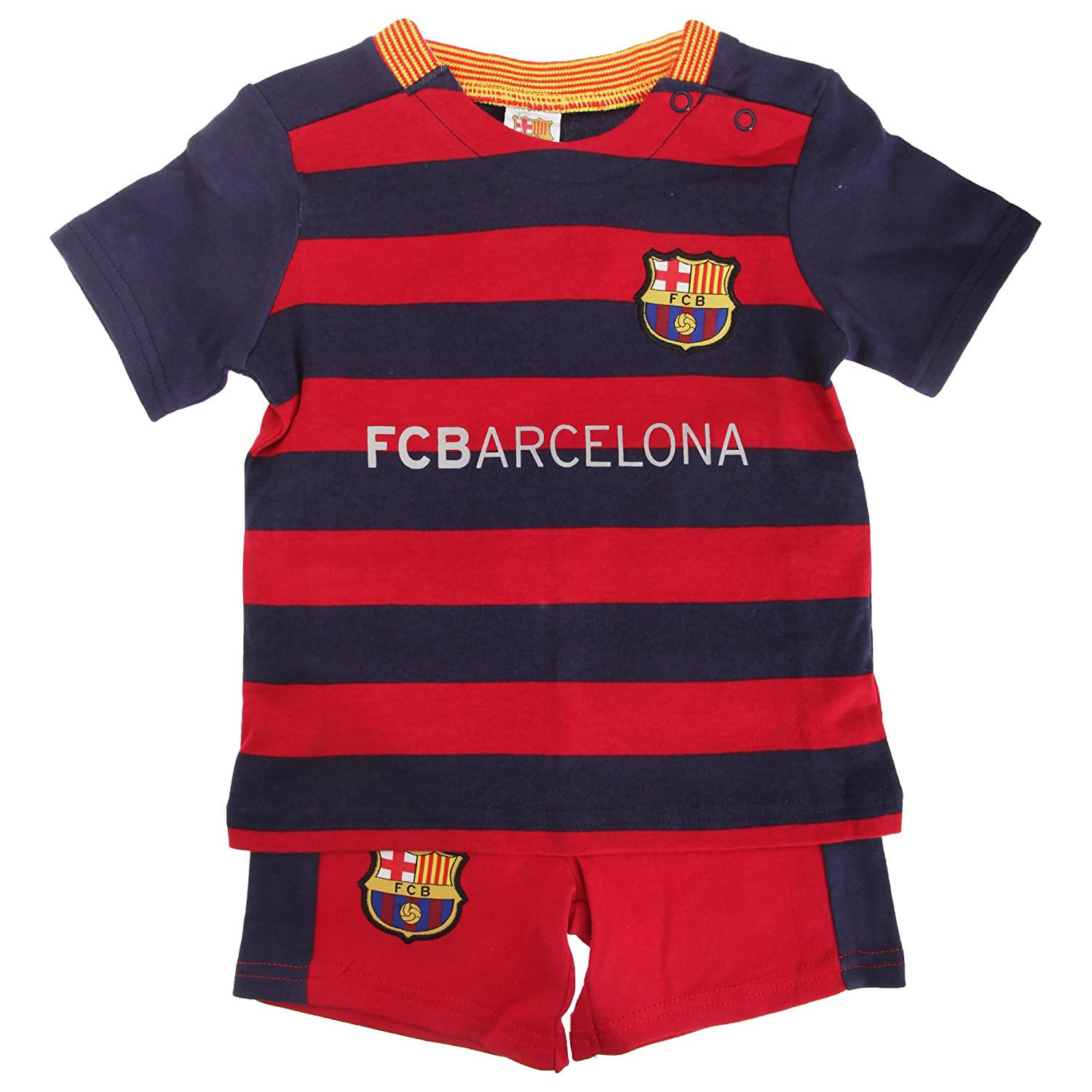 Barcelona FC Official 2015//16 Football Kit Baby Shirt and Shorts Set 12-18 Months