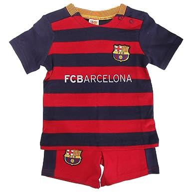 FCB Barcelona FC Oficial 2015/16 Fútbol Kit para bebé Camiseta y Pantalones Cortos Set (Diversos tamaños a Elegir Entre.) Ideal para Ventilador de Cualquier ...