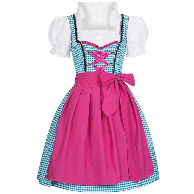 Gaudi-Leathers Dirndl Tinja Traje Tradicional de Tirolesa Vestido Moda Alemana de Oktoberfest carnevale para Mujer