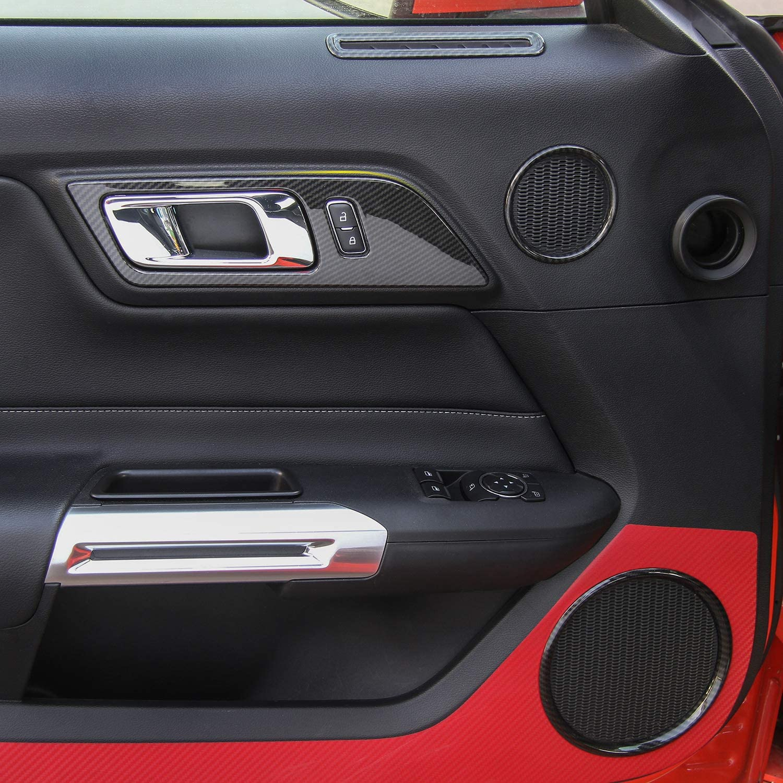 JeCar Car Reading Light Panel Trim Cover Interior Decoration for Ford Mustang 2015-2017 Carbon Fiber