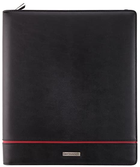 image about Day Runner Binder known as Working day Runner 2070399 Deco Refillable Planner, 8 1/2 x 11, Black