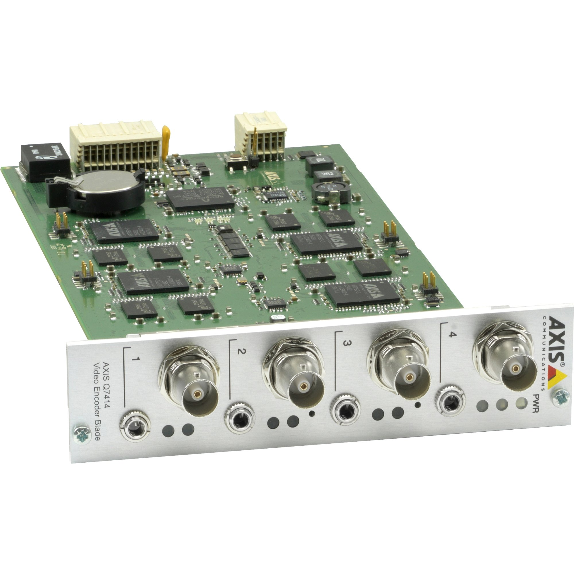Axis Communications Q7414 4-Channel Video Encoder Blade for Q7900 Rack, H.264/Motion JPEG Streams, 30/25fps Frame Rate by AXIS COMMUNICATION INC.