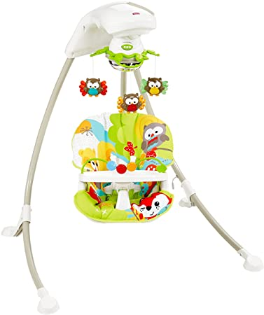 34754d0289fc Fisher-Price Woodland Friends Cradle 'n Swing [Amazon Exclusive]