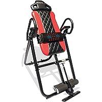 Health Gear HGI 4.2 Patent Pending Diamond Edition Heat & Vibration Massage Inversion Table, Red, Red