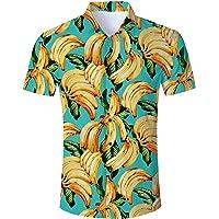 RAISEVERN Camisa Hawaiana Divertida de Verano para Hombre Camisas Casuales de Manga Corta Trajes Ropa de Vacaciones…