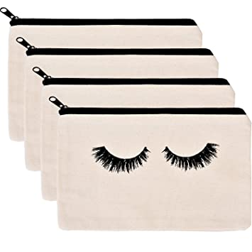 Amazon.com   BBTO 4 Pack Makeup Bag Cosmetic Pouch Makeup Pouch Travel  Toiletry Eyelash Case with Zippered Pocket   Beauty 5293686aeb