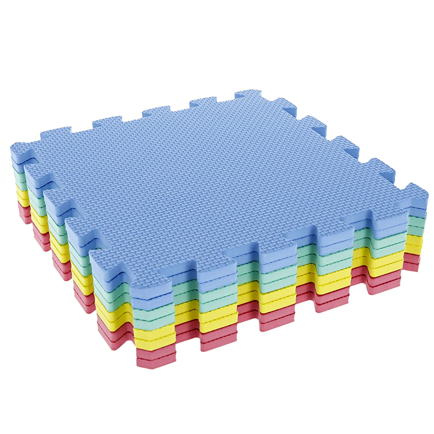 Tg Foam Mat Floor Tiles Interlocking Eva Foam Padding By Stalwart A Soft Flooring For Exercising Yoga Camping Kids Babies Playroom A 8 Piece Set Amazon In Toys Games
