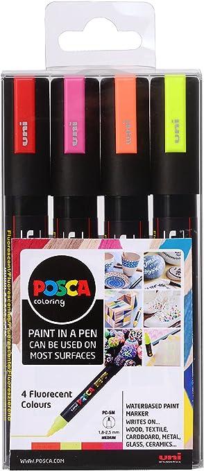 Posca 153544858 - Pack de 4 rotuladores de pintura al agua ...