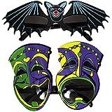 Creative Set Of 2 Party Glasses - Bats & Jocker