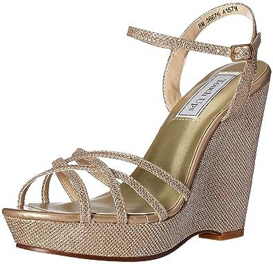 Touch Ups Women's Jaden Wedge Sandal, Champagne, ...