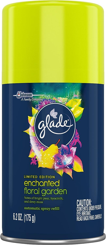 Glade Automatic Spray Air Freshener Refill, Enchanted Floral Garden, 6.2 Ounce