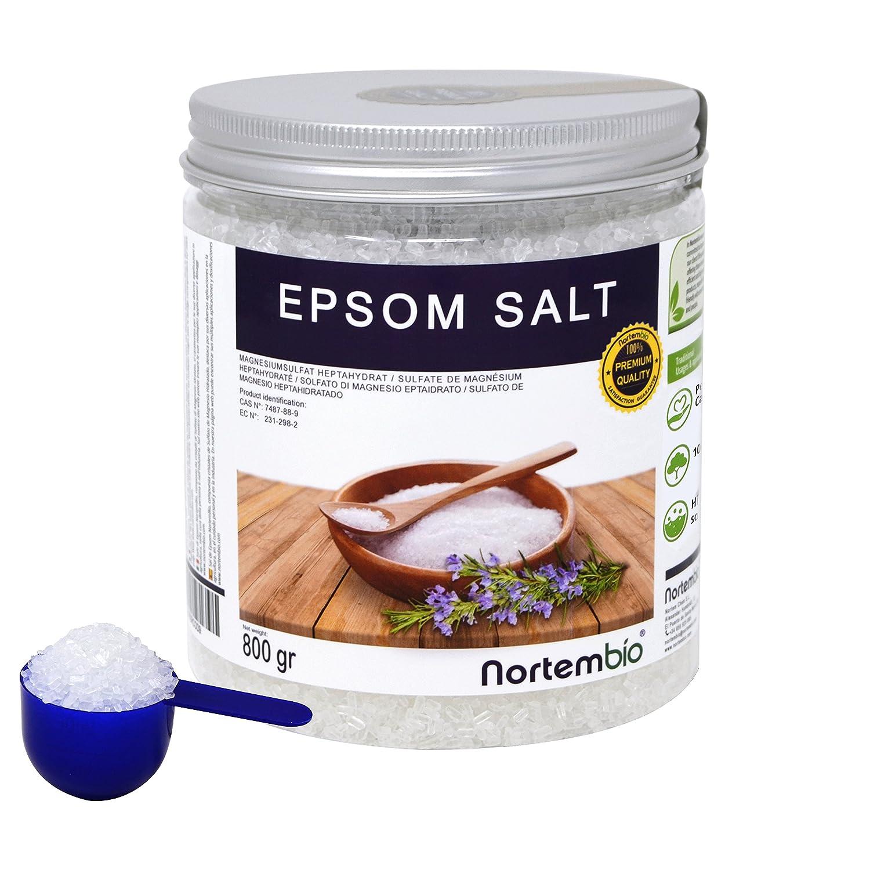 Nortembio Sal de Epsom 2x1,3 kg, Fuente concentrada de Magnesio, Sales 100% Naturales. Baño y Cuidado Personal.: Amazon.es: Hogar