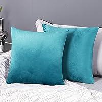 Deconovo set med 2 sammet kuddfodral soffa kuddfodral dekorativa kuddfodral mjuk design inredning sovrum vardagsrum…