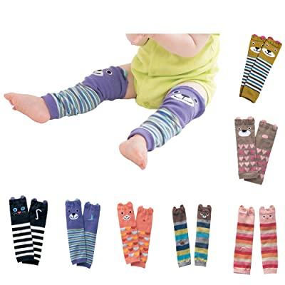 7 Pack Baby Toddler Bear Leg Sleeve Warmers Knee Socks Protector For 1~36 Months Baby