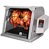 Ronco Showtime Large Capacity Rotisserie & BBQ Oven Platinum Edition, Digital Controls, Perfect Preset Rotation Speed, Self-B