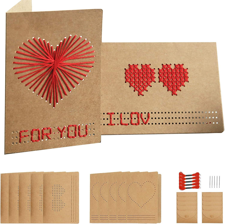 Homemade DIY Greeting Card Kits, 10pcs per set, 2 Designs for Graduation, Wedding, Formal.