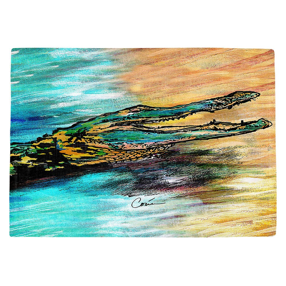 DIANOCHEキッチンPlaceマットby Corina Bakke – Alligator Set of 4 Placemats PM-CorinaBakkeAlligator2 Set of 4 Placemats  B01EXSK7KM