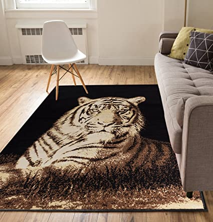 Antiques Wool Tiger Rug Handmade Wool Rug Tiger Tapestry Tiger Kids Rug Wall Hanging Rug To Have A Unique National Style