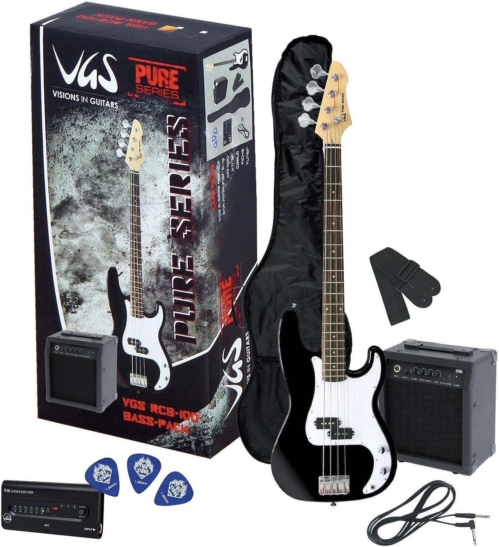 VGS Pure Series RCB-100 - Pack de bajo color negro: Amazon.es ...