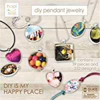 Girls Jewelry Making Kit for Kids Arts and Crafts Gifts - 11 Charm Pendants, 9 Necklaces, 2 Bracelets