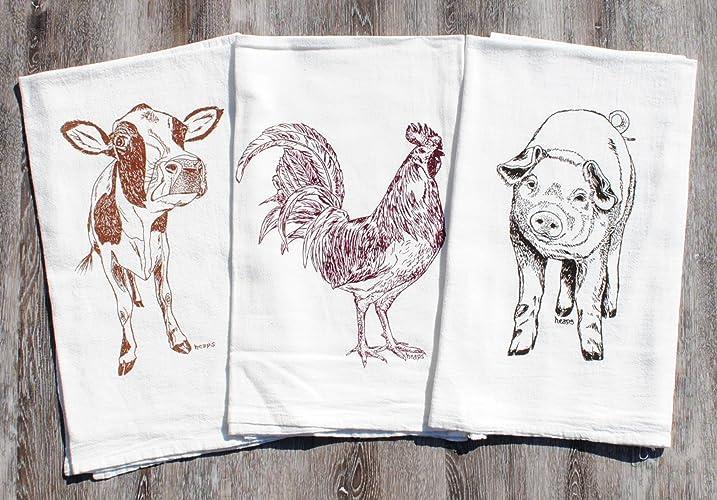 Flour Sack Tea Towels with a Farmhouse Appeal