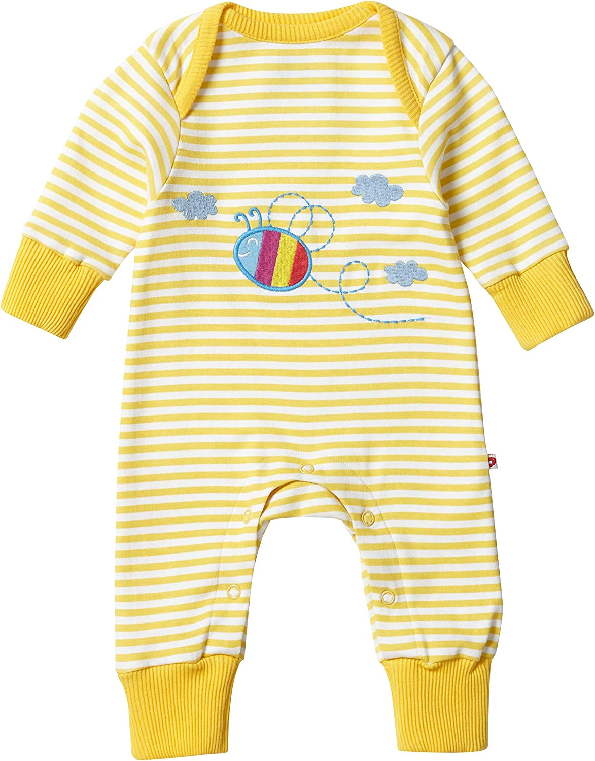 Piccalilly Baby Sleepsuit with Feet Unisex Boys Girls Bees