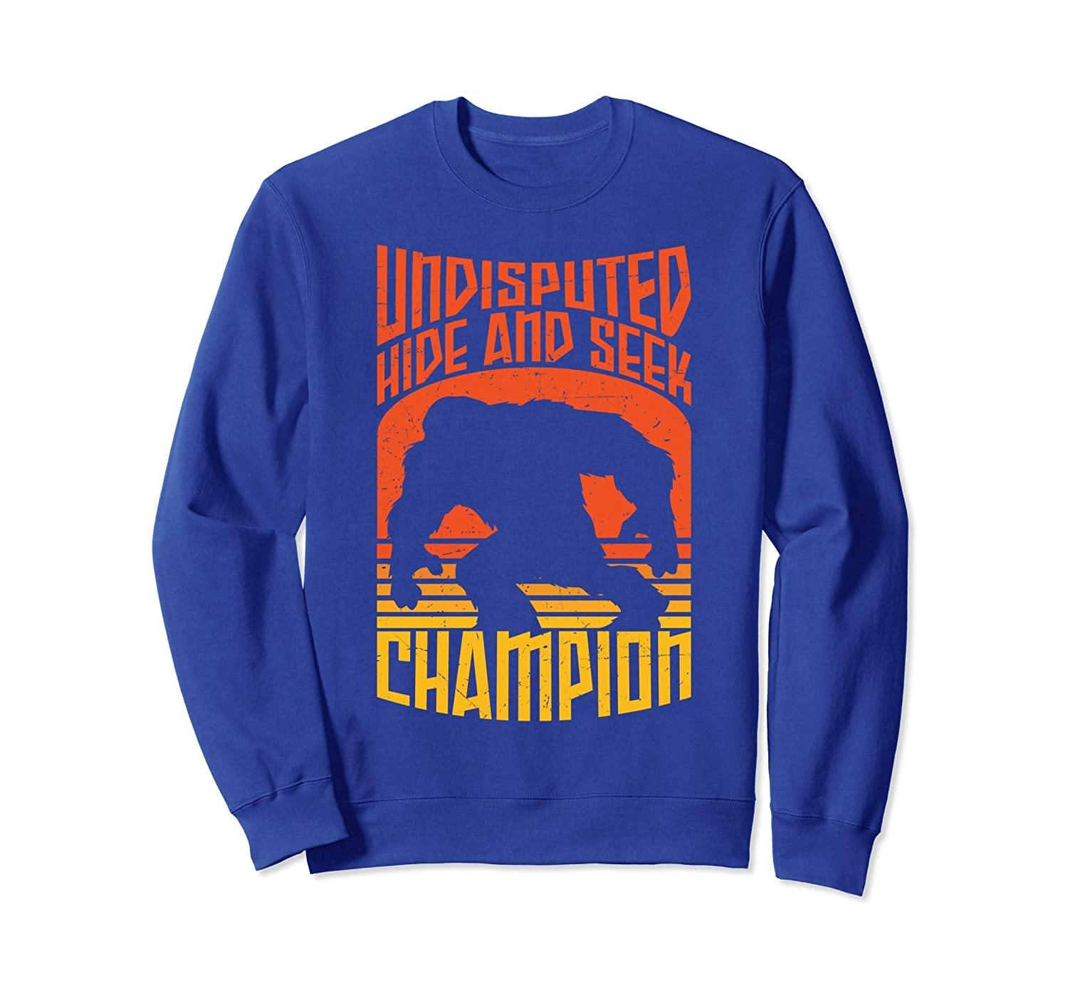 Hide And Seek Champion Funny Bigfoot Is Real Shirt-mt