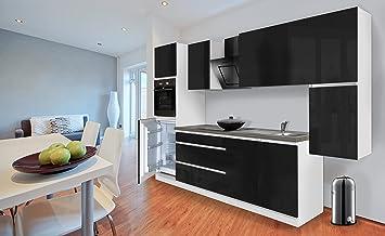 Respekta Premium Grifflose Küchenzeile Küche Küchenblock 320cm