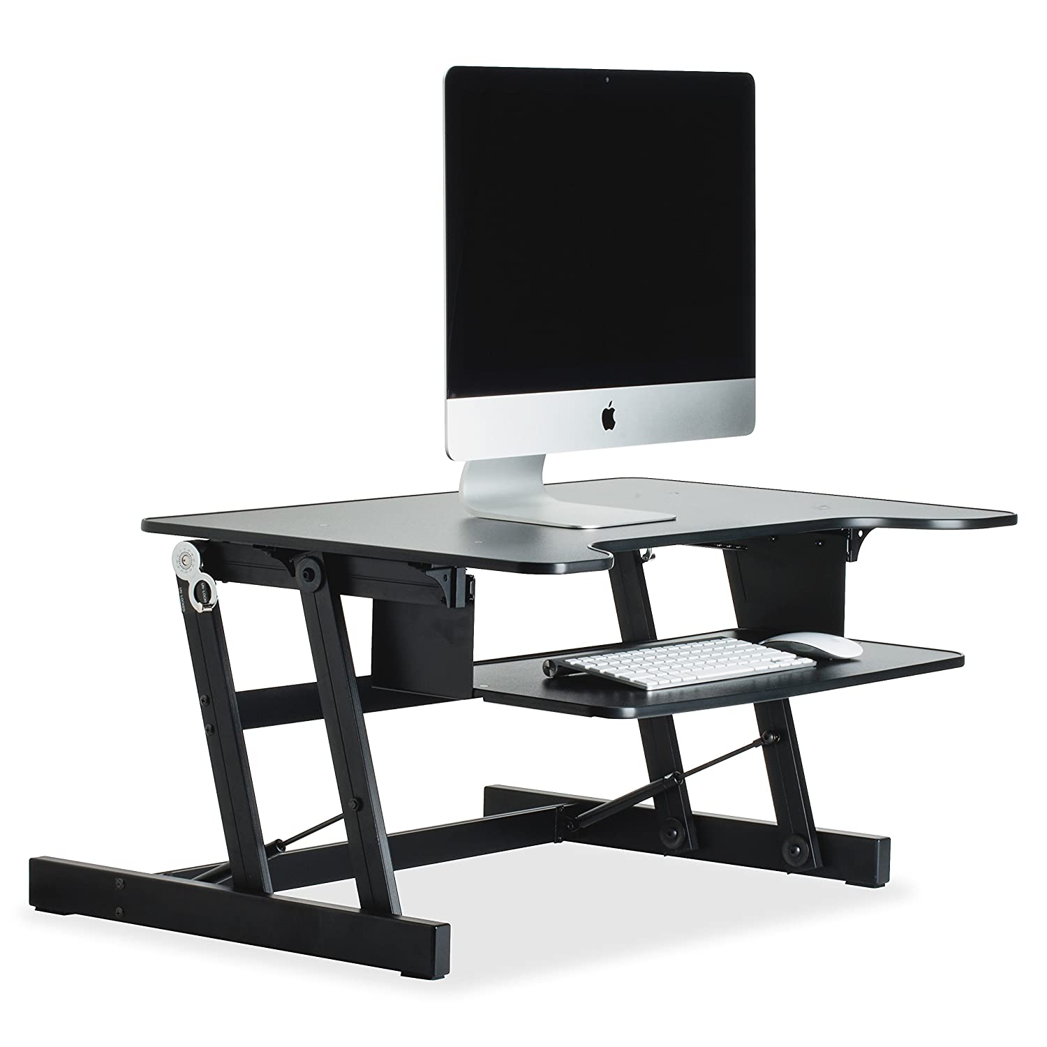 Amazon Lorell Sit to Stand monitor riser black puters