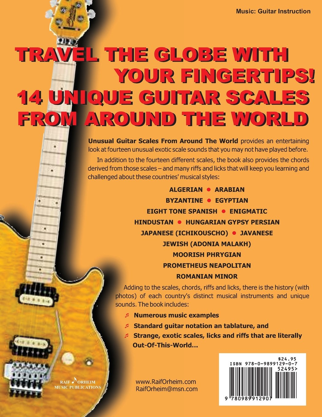 Unusual Guitar Scales From Around The World Exotic Guitar Riffs And