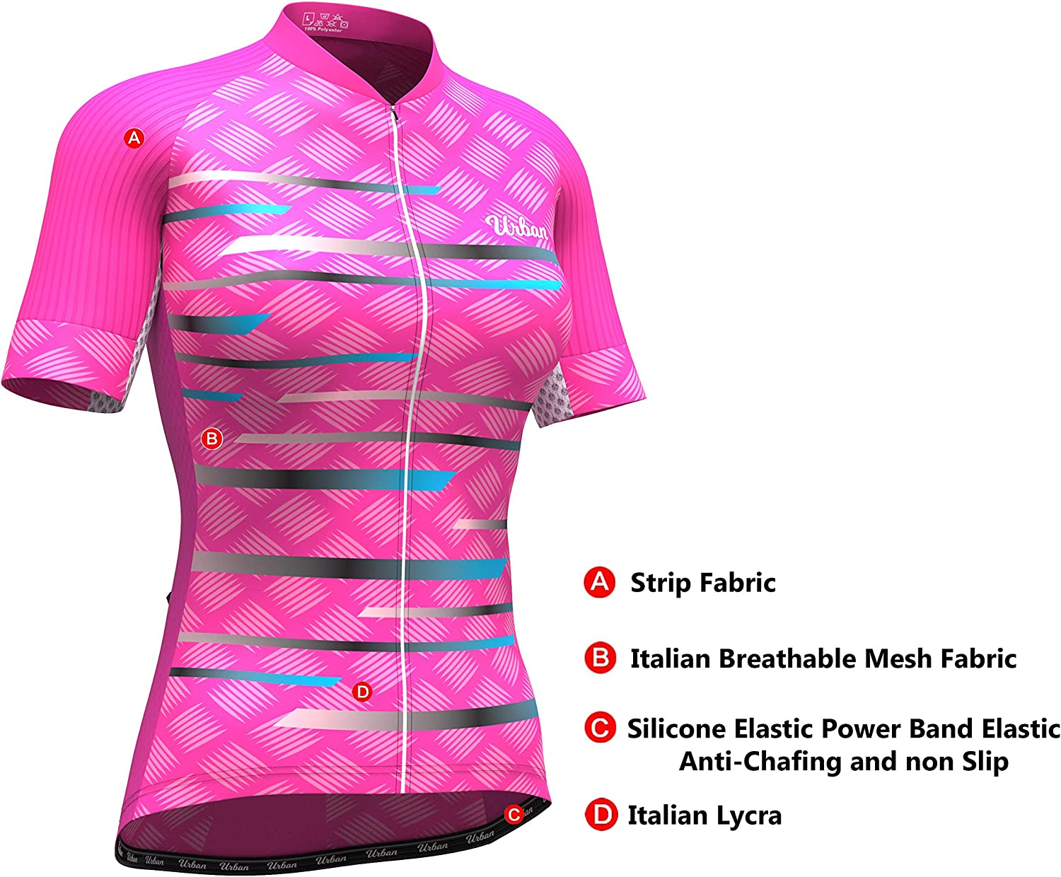 KJX4604 Women/'s Mtb Bicycle Riding Cycling Short Sleeve Jersey Bib Shorts Sport