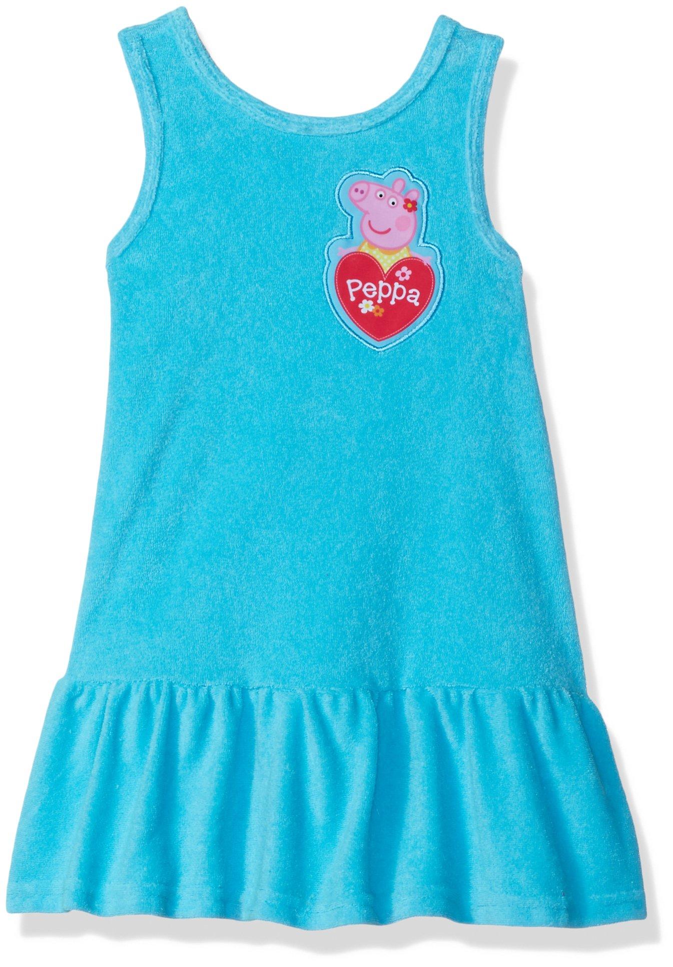 Dreamwave Toddler Girls' Peppa Big Cover up, Sky Blue, 4T