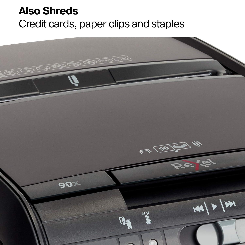 90X Cross shredding 60dB 220mm Noir destructeur de papier Rexel Auto Cross shredding, 22 cm, 4 x 45, 20 L, 90 feuilles, 60 dB Destructeurs de papier