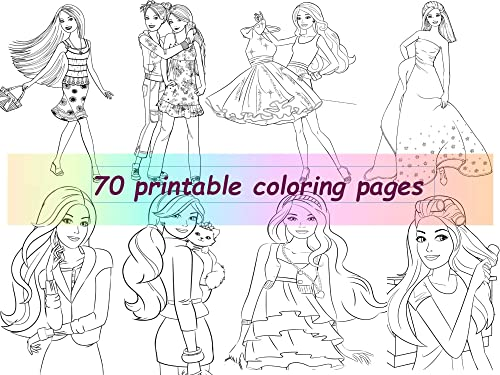 Coloring pages barbie princess - timeless-miracle.com | 375x500