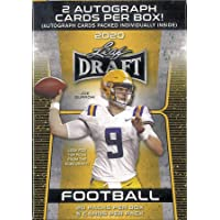 $39 » 2020 Leaf Draft Football RETAIL box (20 pks/bx, 100 cards total + TWO Autograph cards)