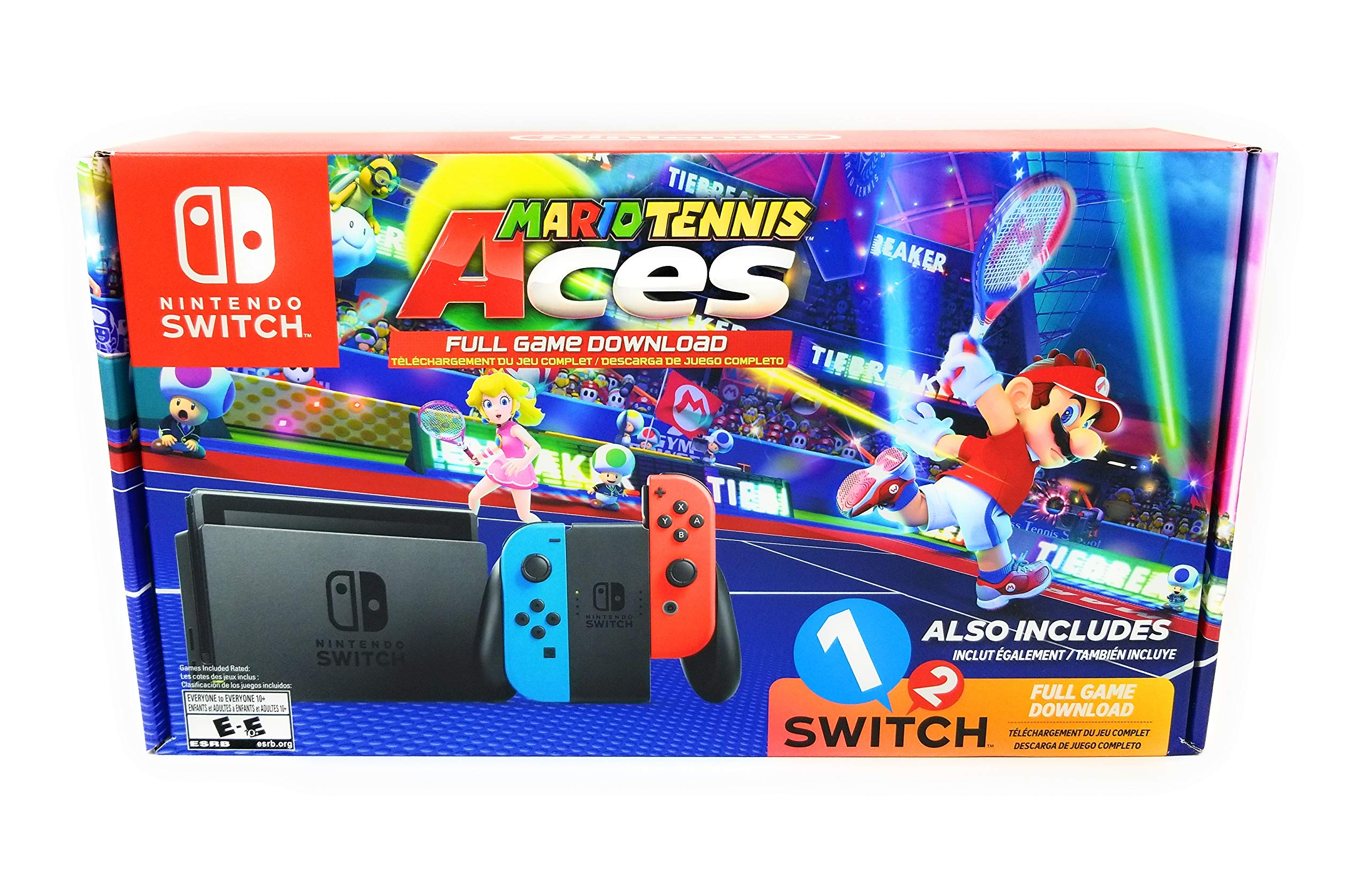 Nintendo Switch System Neon Blue Neon Red With Mario Tennis Aces