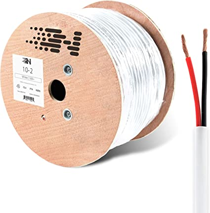 12AWG Speaker Cable 500FT Bulk Audio Wire CL2 In Wall 12//2 Gauge 2 Conductor New